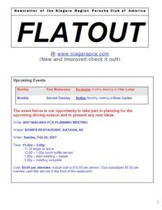 Feb. Flatout 2007 cover