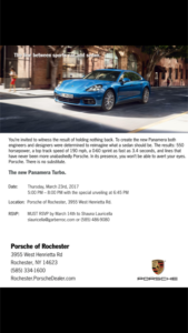 Panamera Turbo Unveiling @ Garber Porsche of Rochester* @ Porsche of Rochester | Rochester | New York | United States