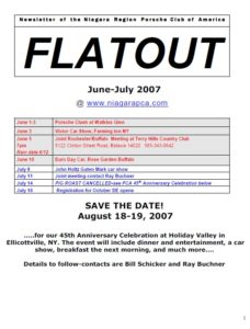 June-July flatout 2007 cover