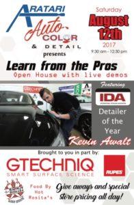 ARATARI Auto Detailing Seminar* @ Aratari Auto Color & Detail | Rochester | New York | United States