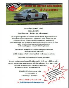 Intro to Driver Education & Autocross @ Nolan's on the Lake | Canandaigua | New York | United States