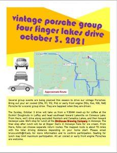 Vintage Porsche Group Drive - Four Finger Lakes @ Dunkin Doughnuts   Le Roy   New York   United States